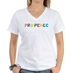 Pro Peace Women's V-Neck T-Shirt