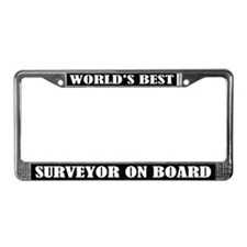 World's Best Surveyor License Plate Frame