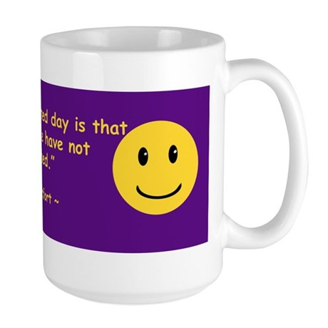 The Most Wasted Day Large Mug