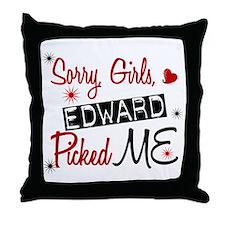 Edward Picked ME Twilight Throw Pillow
