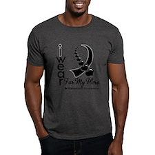 Melanoma Hero Ribbon T-Shirt
