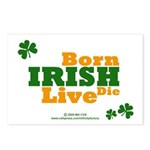 Irish Born Live Die Postcards (Package of 8)