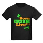 Irish Born Live Die Kids Dark T-Shirt