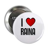 "I LOVE RAINA 2.25"" Button (10 pack)"