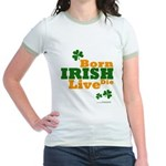 Irish Born Live Die Jr. Ringer T-Shirt