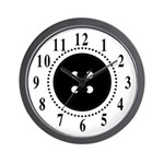 Black Button Large Numbers Wall Clock