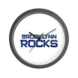 brooklynn rocks Wall Clock
