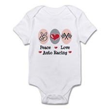 Peace Love Auto Racing Infant Bodysuit