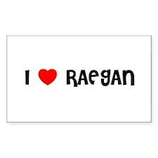 I LOVE RAEGAN Rectangle Decal