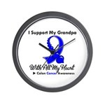 ColonCancerHeart Grandpa Wall Clock