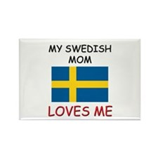 My Swedish Mom Loves Me Rectangle Magnet