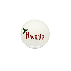 Naughty Mini Button