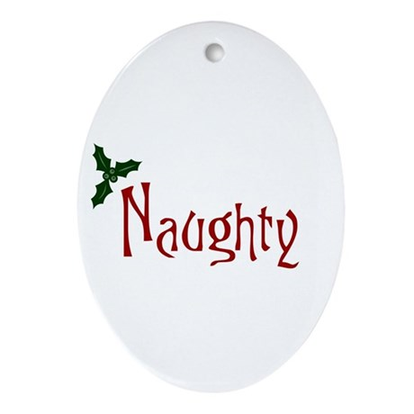Naughty Oval Ornament