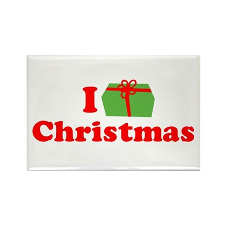 I Love [Present] Christmas Rectangle Magnet