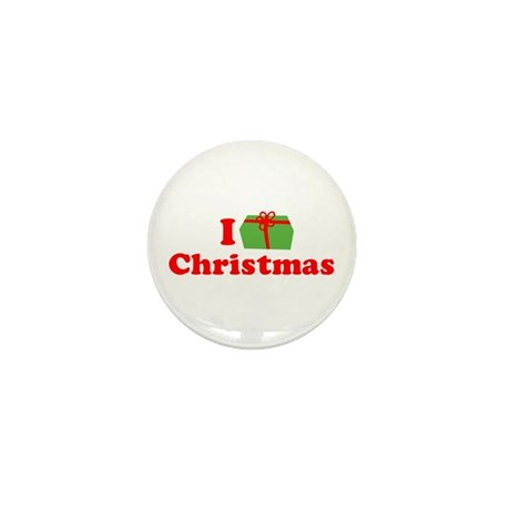 I Love [Present] Christmas Mini Button