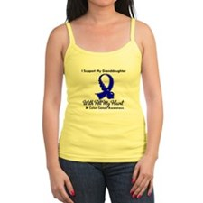 ColonCancer Granddaughter Jr.Spaghetti Strap
