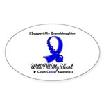ColonCancer Granddaughter Oval Sticker (10 pk)