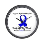 ColonCancer Granddaughter Wall Clock
