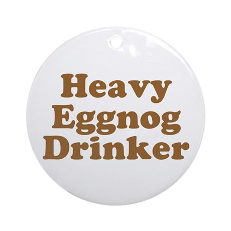 Heavy Eggnog Drinker Ornament (Round)
