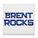 brent rocks Tile Coaster