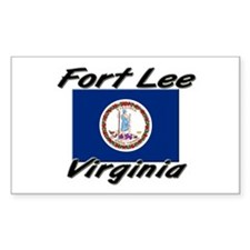 Fort Lee virginia Rectangle Decal