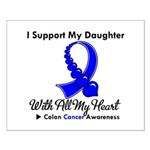 ColonCancerHeart Daughter Small Poster