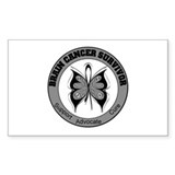 Brain Cancer Survivor Rectangle Sticker 10 pk)