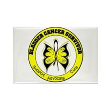 Bladder Cancer Survivor Rectangle Magnet