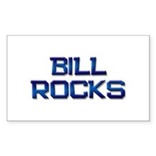 bill rocks Rectangle Decal