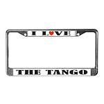 I Love The Tango License Plate Frame