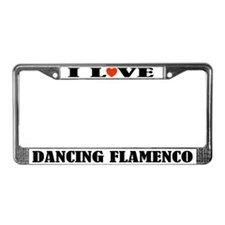 I Love Dancing Flamenco License Plate Frame