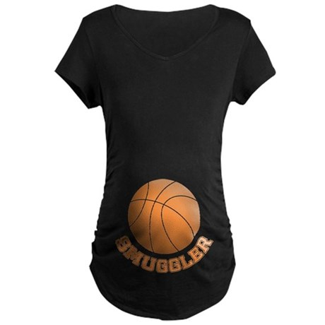Basketball Smuggler Maternity Dark T-Shirt