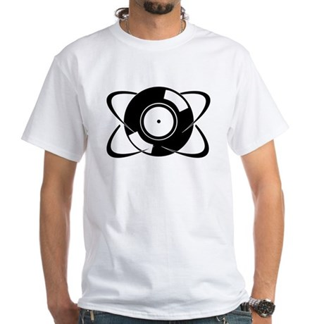 Record Atom White T-Shirt