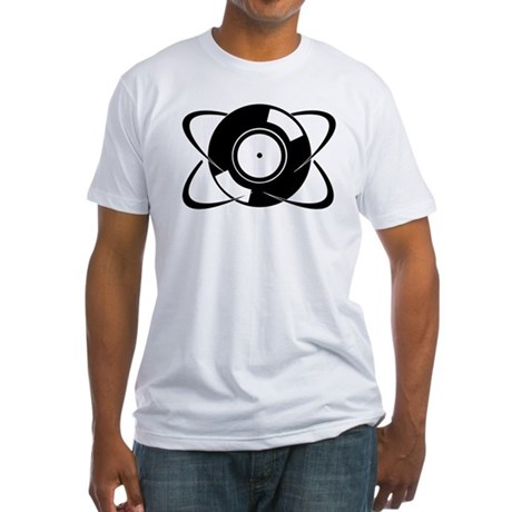Record Atom Fitted T-Shirt