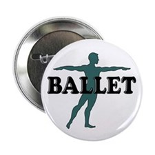 Male Ballet Silhouette Button