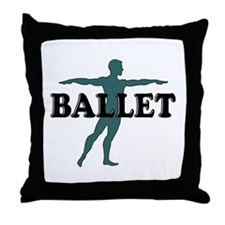 Male Ballet Silhouette Throw Pillow