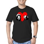Panda Bear Love Men's Fitted T-Shirt (dark)