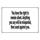 Right to Remain Silent Misquote Banner
