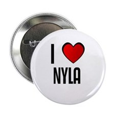 "I LOVE NYLA 2.25"" Button (100 pack)"