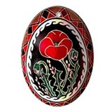 Pysanka Ukrainian Decorated Egg Oval Ornament