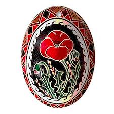 Pysanka Ukrainian Decorated Egg Oval Ornament
