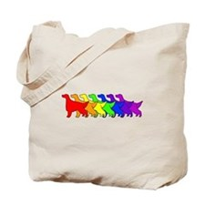 Rainbow Irish Setter Tote Bag