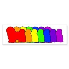 Rainbow Havanese Bumper Bumper Sticker