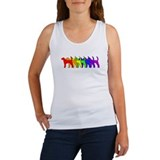 Rainbow American Foxhound Women's Tank Top
