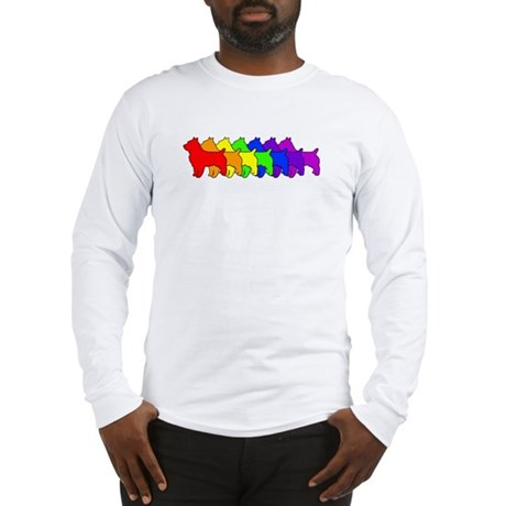 Rainbow Australian Terrier Long Sleeve T-Shirt