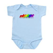 Rainbow Beauceron Infant Bodysuit