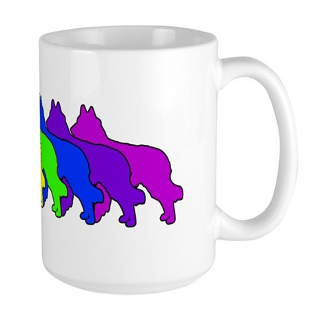 Rainbow Tervuren Large Mug