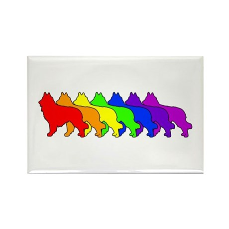 Rainbow Tervuren Rectangle Magnet