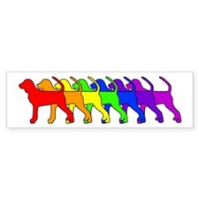 Rainbow BT Coonhound Bumper Bumper Sticker