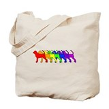 Rainbow BT Coonhound Tote Bag